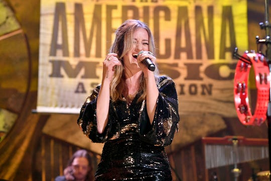 Margo Price performs at the 2018 Americana Music Honors and Awards at Ryman Auditorium on September 12, 2018 in Nashville.