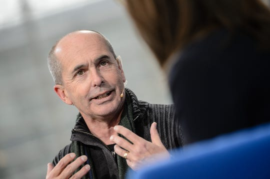 Author Don Winslow is seen during the Leipzig Book Fair 2016 on March 18, 2016 in Leipzig, Germany.