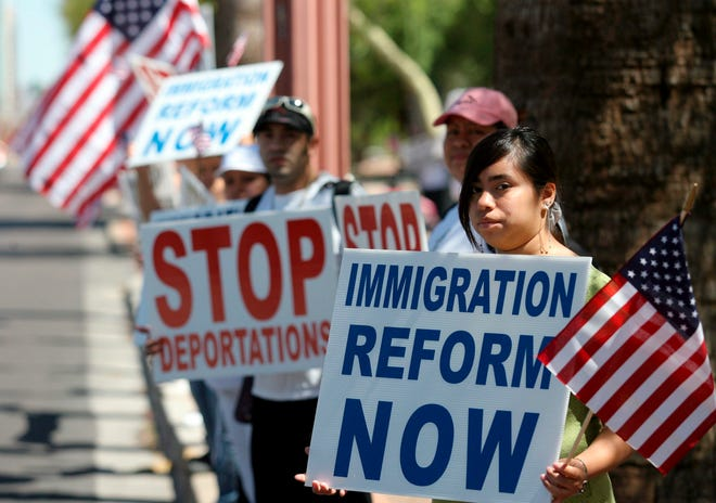 Protesta de inmigración.