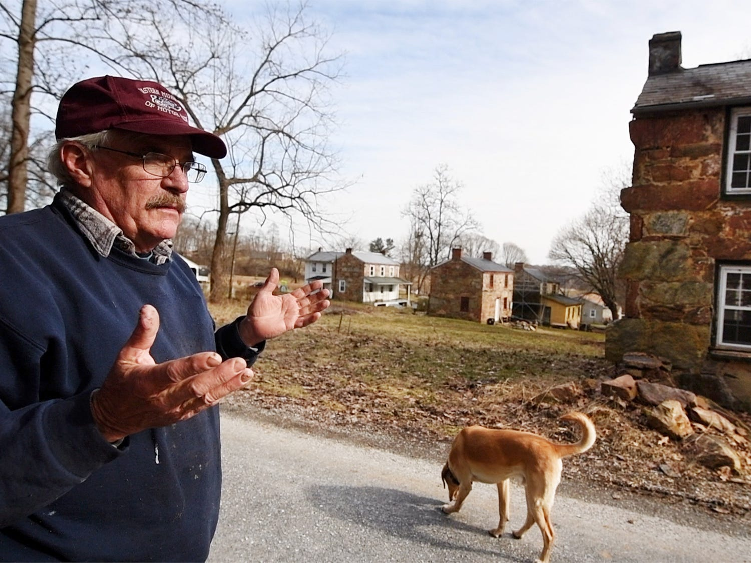 Don Robinson stands in front of the newest Welsh quarrymen's cottage recently purchased in Coulsontown, Peach Bottom Township February 19, 2019.