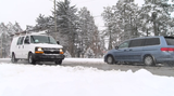 Heavy snow made traveling difficult across York County, but that didn't stop some people.