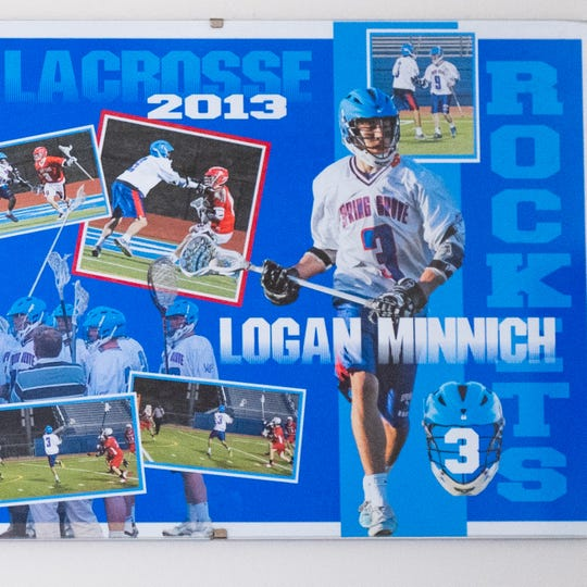 Logan Minnich played lacrosse and other sports at Spring Grove high school before graduating in 2013.