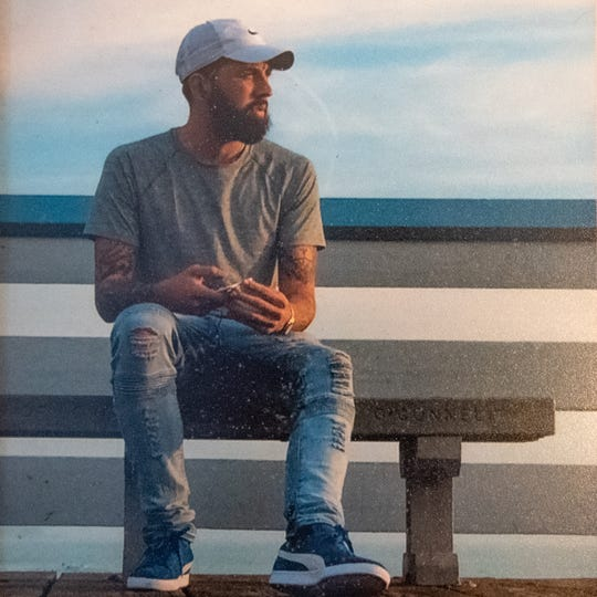 This is the most recent picture of Logan Minnich. He had just moved to California, and began living in a recovery house. According to his mother, he was doing well, February 14, 2019.
