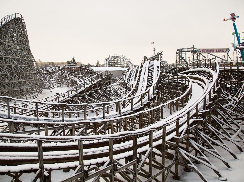Hersheypark is somewhat of a Winter Wonderland.
