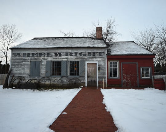 The Wheelwright house in Dillsburg. The property is located on the Dill's Tavern plantation. The right side of the building is a replica distillery in honor of the Eichelberger Distillery, which began on site after Leonard Eichelberger purchased the property from John Dill in the early 1800s.