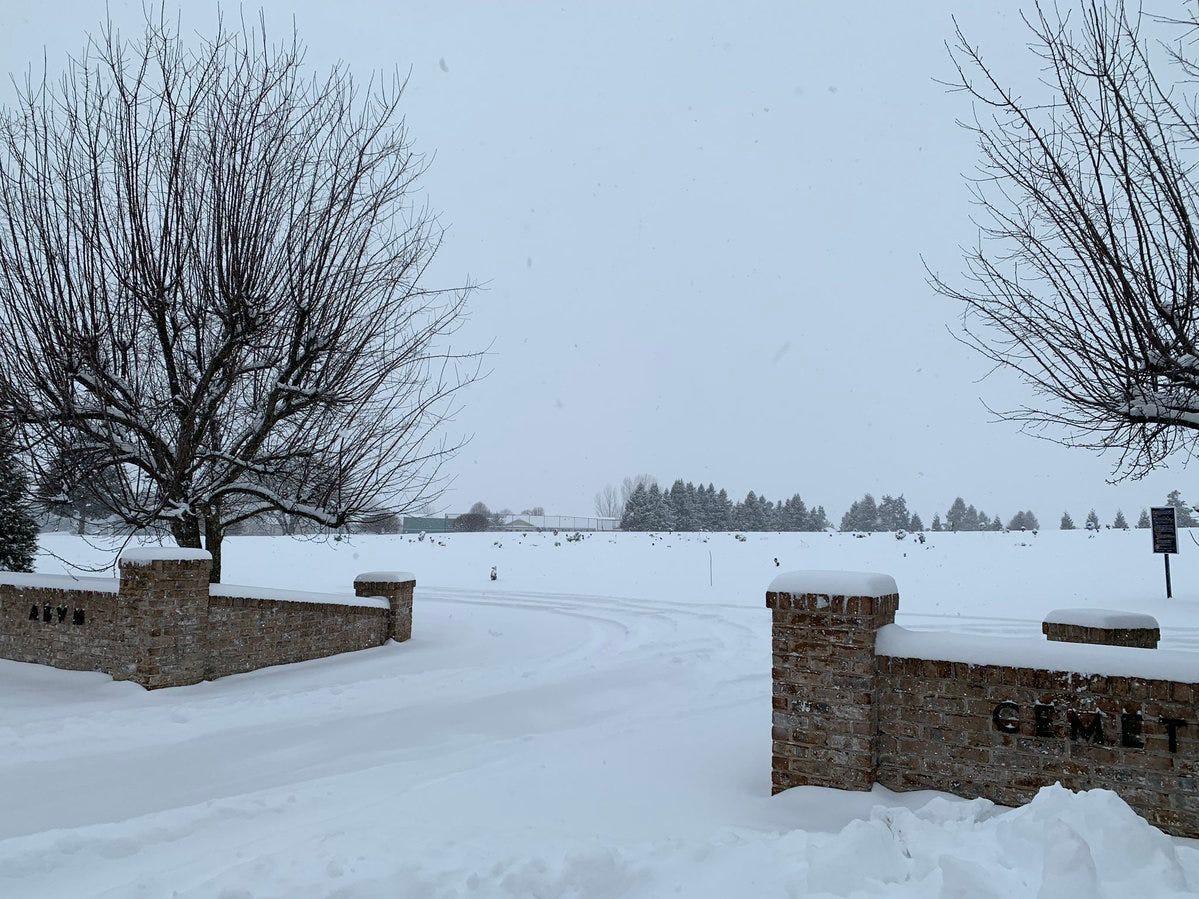 Snow blankets McSherrystown on Wednesday.