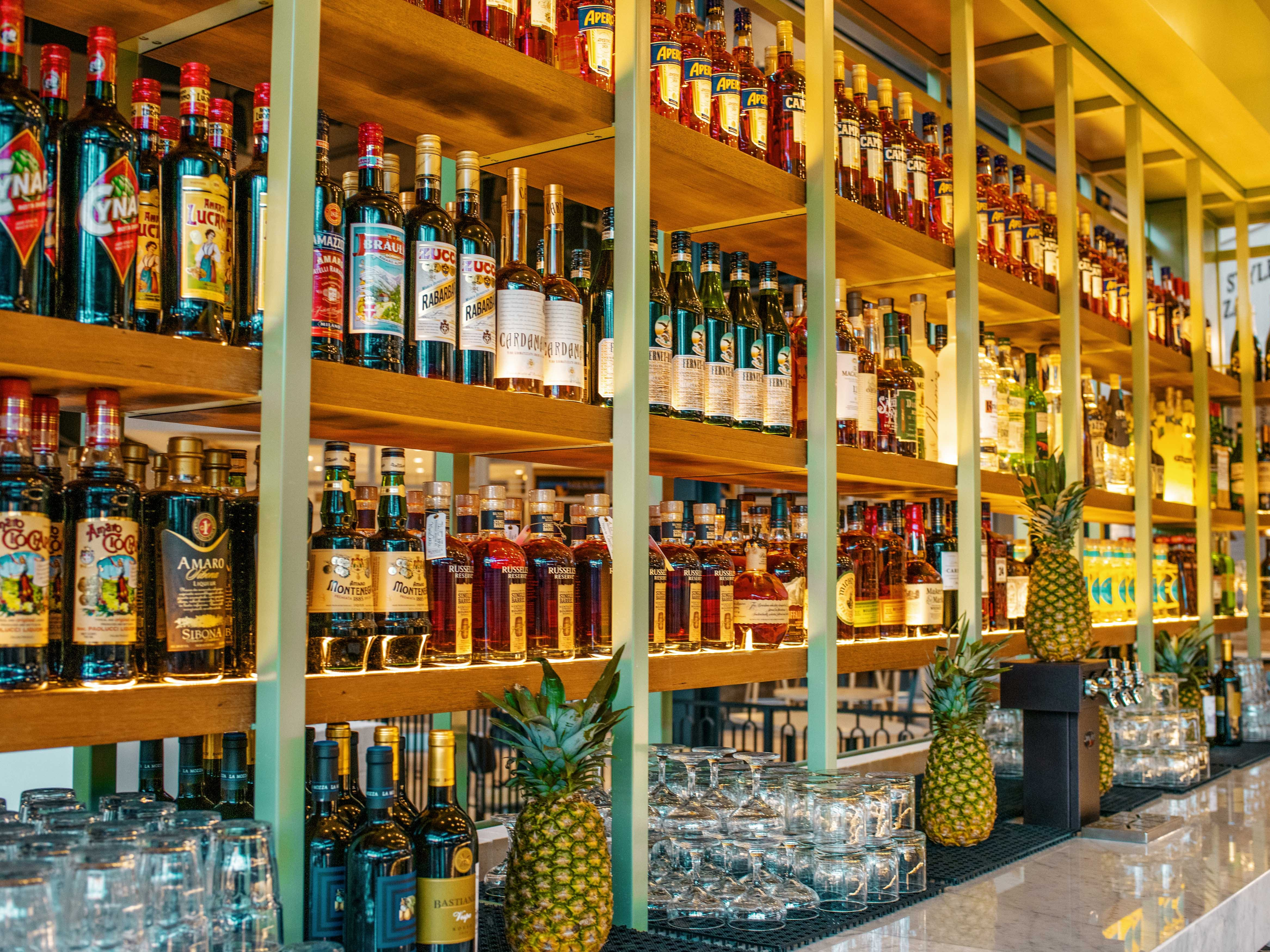 EATALY LAS VEGAS in the Park MGM. A selection of aperitivos.