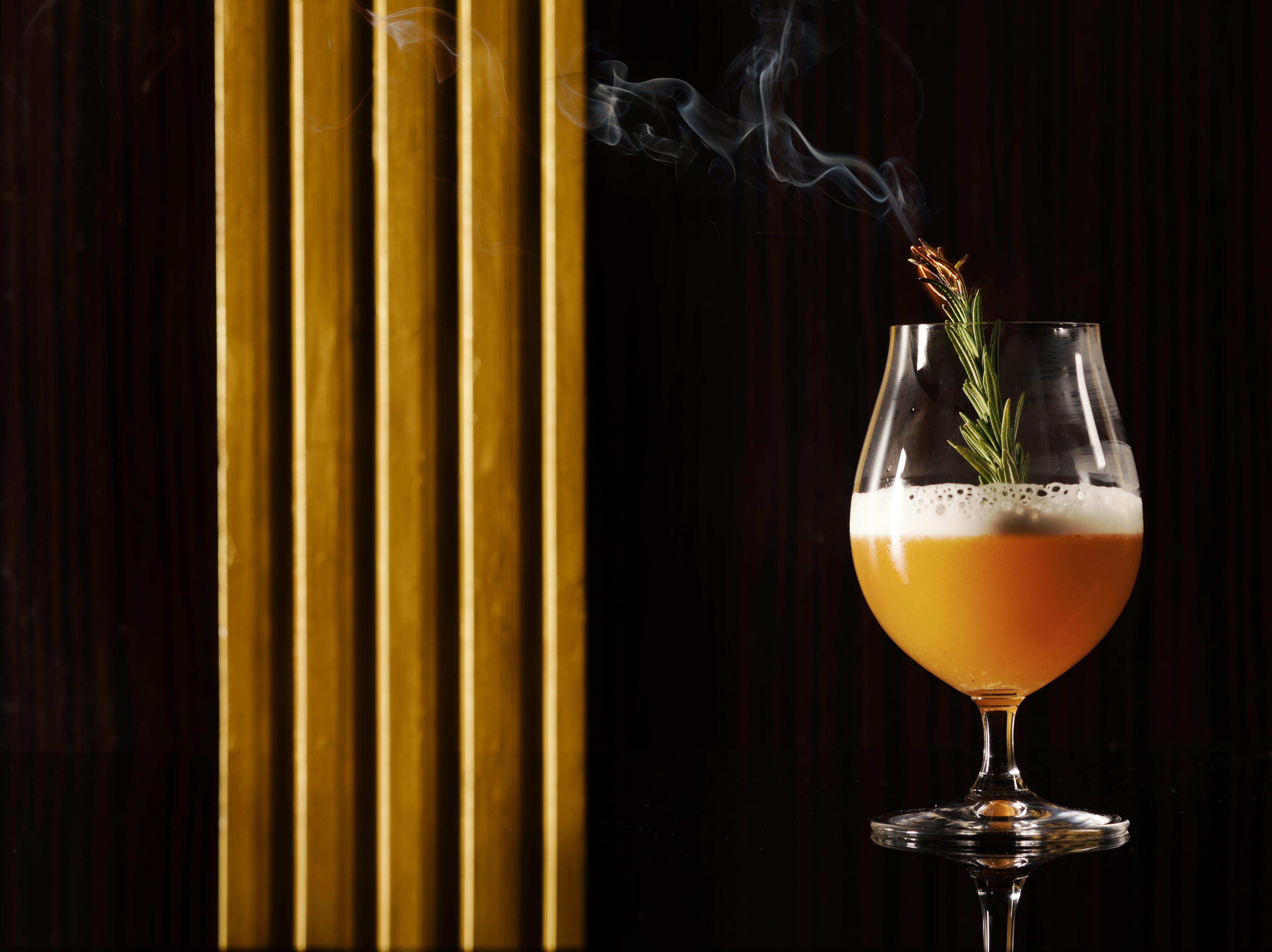 SPAGO in Bellagio Resort & Casino. Rogue Sour Cocktail.