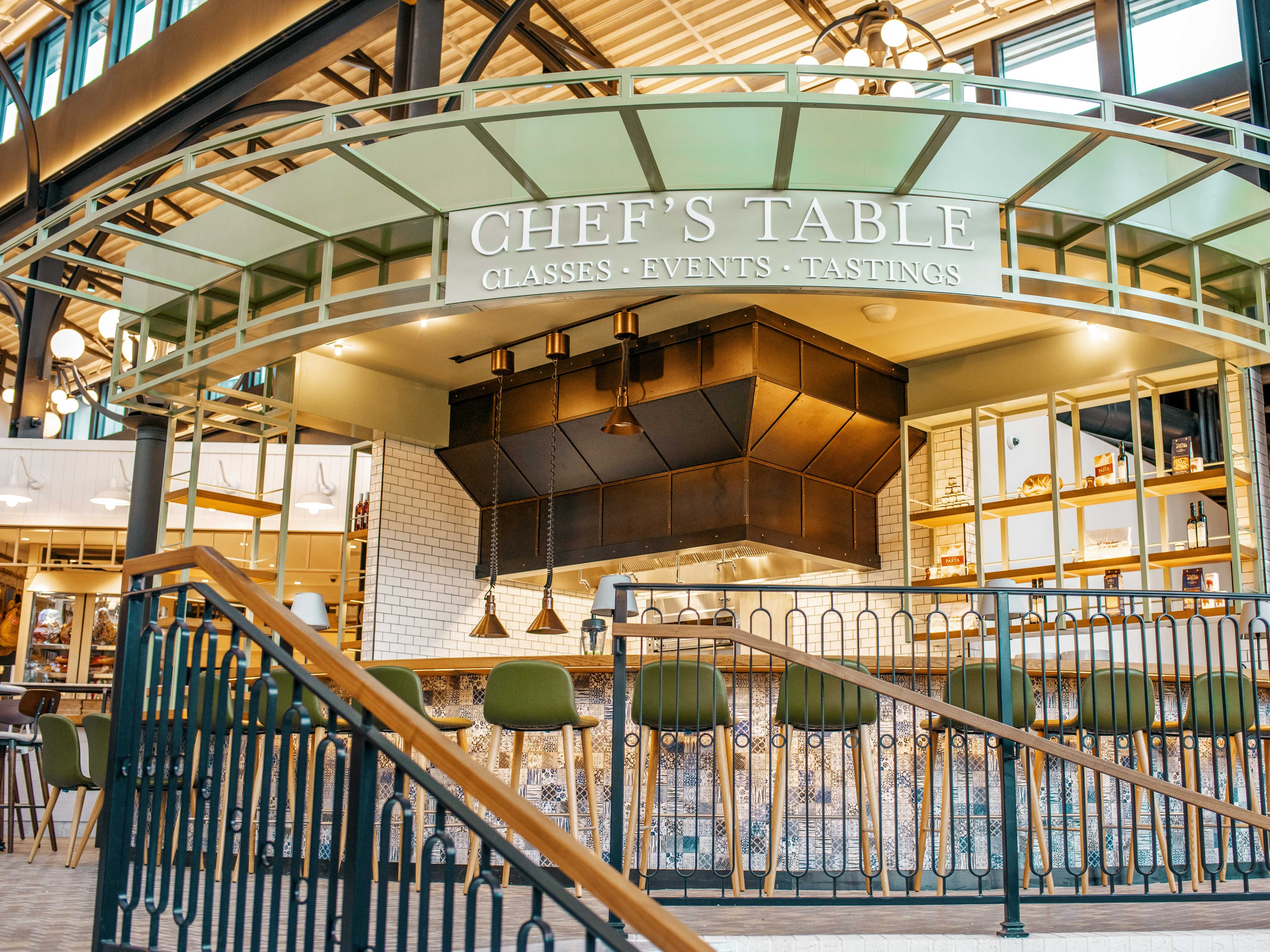 EATALY LAS VEGAS in the Park MGM. Classes, tastings and other events take place at the Chef's Table.