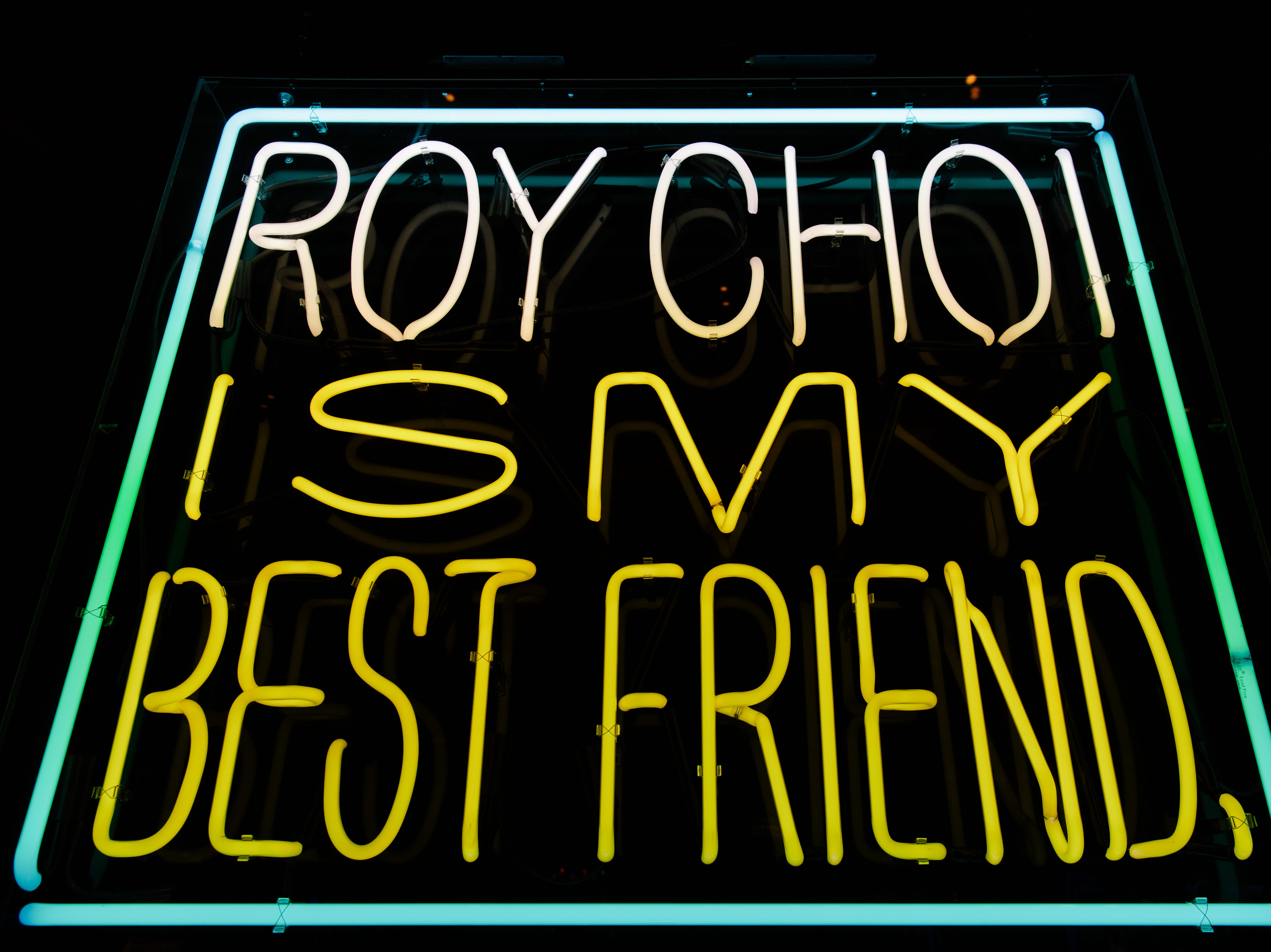 BEST FRIEND in the Park MGM. A neon shout-out to famed chef Roy Choi, who debuted the restaurant.