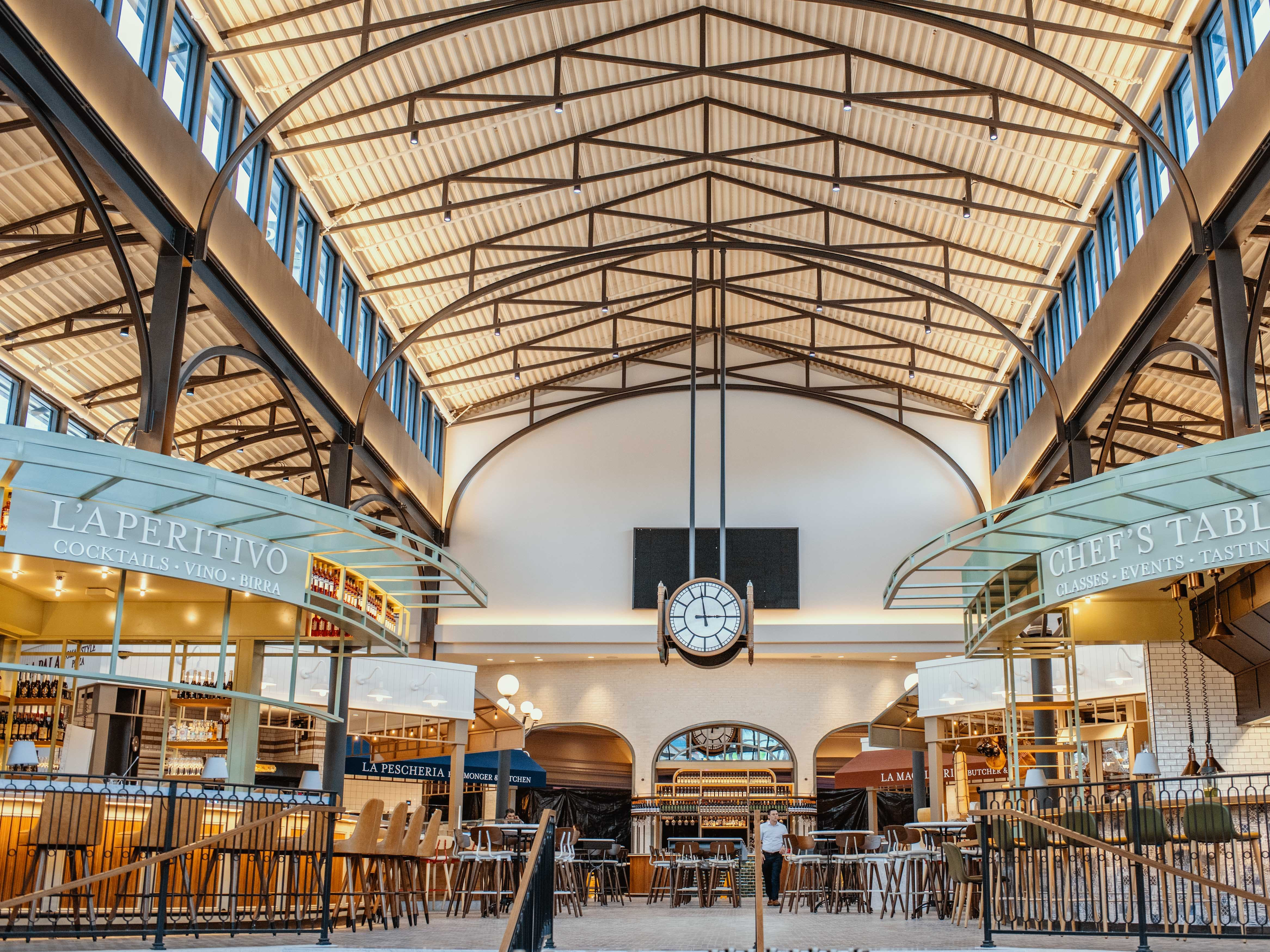 EATALY LAS VEGAS in the Park MGM. Eataly marketplace, sibling to Eatalys around the world, offers more than a dozen Italian shops and restaurants across 40,000 square feet.