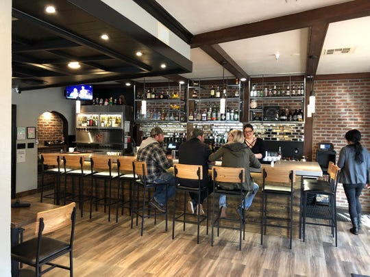 In February 2019, the newly installed bar is seen at Vintage Public House on Market Street in downtown Redding, across from the Cascade Theatre.