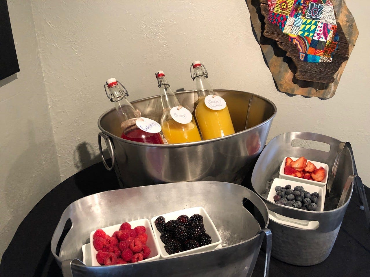 In February 2019,  the mimosa bar at Vintage Public House is part of Sunday brunch from 10 a.m. to 2 p.m.