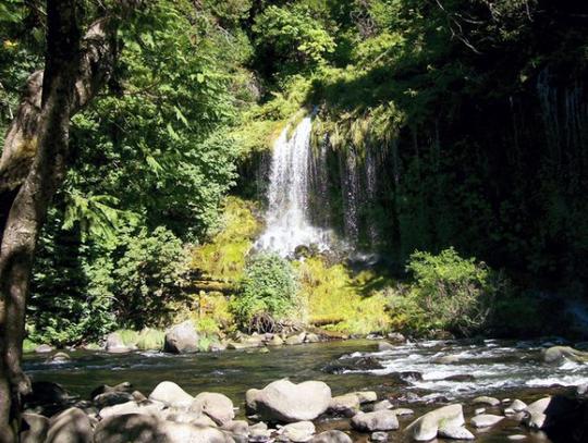 Scenic Mossbrae Falls near Dunsmuir in Siskiyou County.