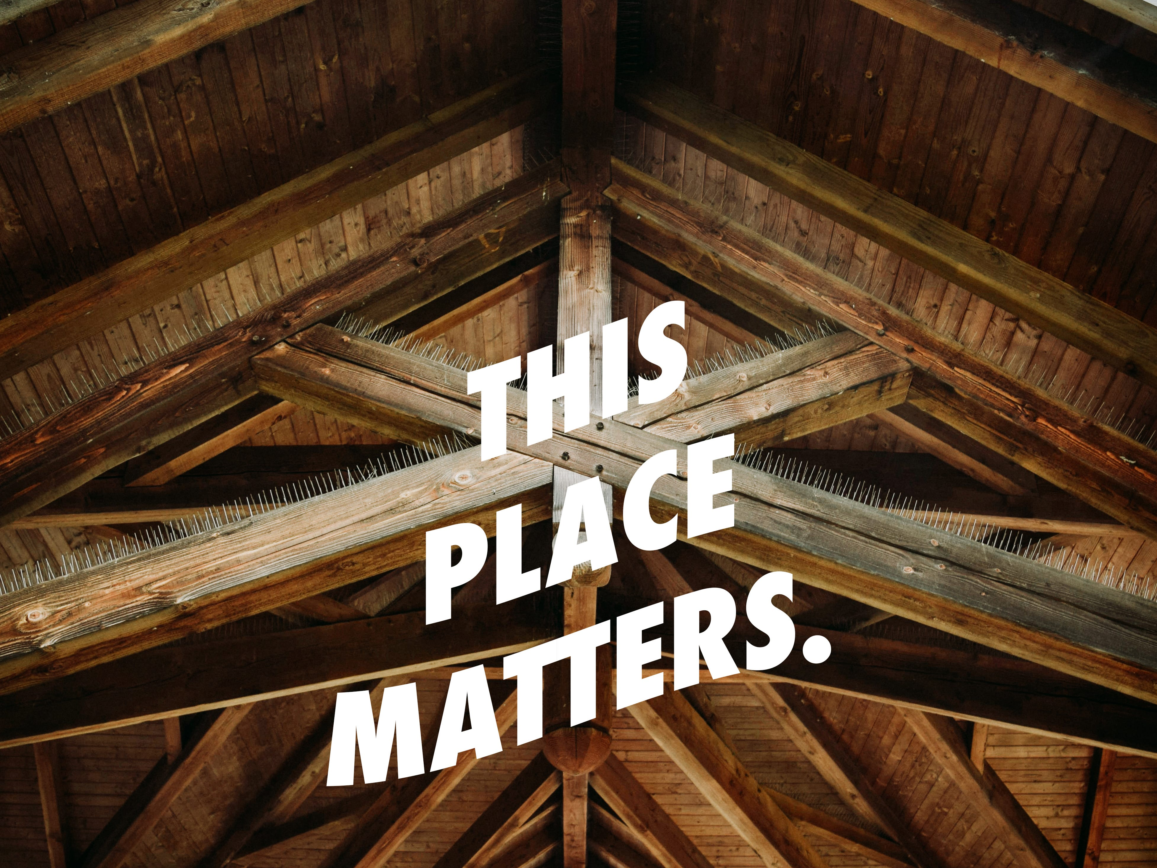This photograph of a Timber Frame Pavilion, by Zach Person, shared first place in the youth division of the Best Historic Building Category in 2018.