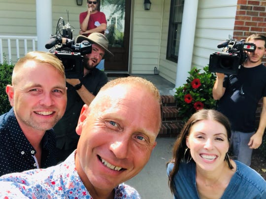 "Brad Driver (left) and Stacey Jennings (center) will be featured on an upcoming episode of ""Vacation Rental Potential"" hosted by Holly Baker (right)."