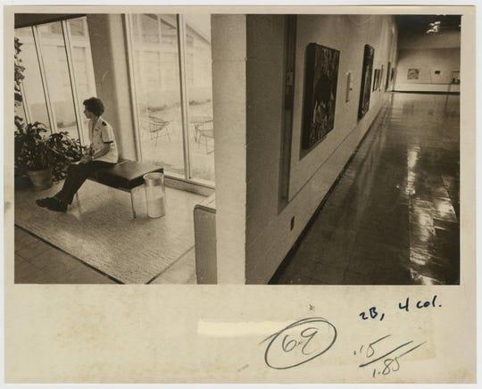Security guard Juanita Sell at Springfield Art Museum, photographed Aug. 19, 1981.