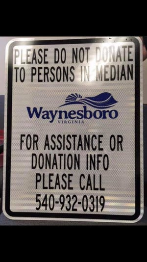 Waynesboro will install signs discouraging panhandling. In 2016, the city repealed its ordinance that outlawed the practice.