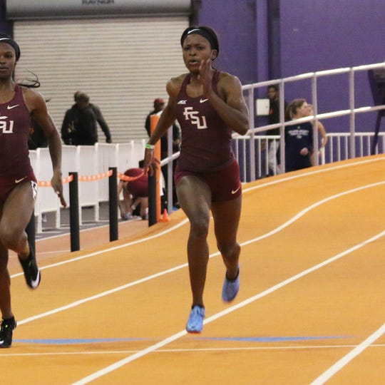 FSU's Jaula Kirkland was the top seed in the women's 200 at the 2019 ACC Indoor Track & Field Championship.