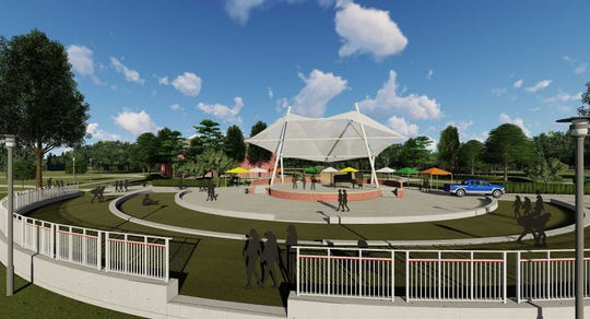 Rendering of amphitheater planned for construction across from the Student Union at Florida A&M University.