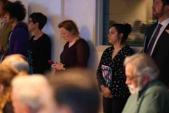 Carrie Litherland, who spoke out against the parking garage at the first meeting at the Board of Realtors, attended the City Commission meeting Wednesday, Feb. 20, 2019 to speak out again.