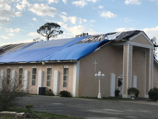 Body of Christ Jesus Church in North Port St. Joe sustained roof and water damage from Hurricane Michael.