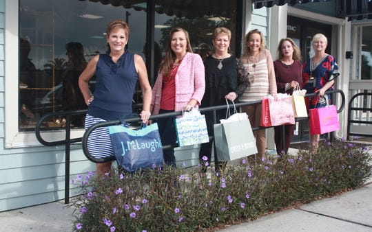 The Shoppes at Harbour Bay will sponsor a benefit luncheon and fashion show on March 9 for the Equine Rescue and Adoption Foundation. Showing off their fashions are, from left, Barbara Switek of J. McLaughlin; Heidi Monsour for The Shoppes at Harbour Bay; JoAnn Parrish with Evelyn and Arthur; Christina Martin with Chico's; Amy Durante of Patchington and Susan Everett with Kemp's Shoe Salon and Boutique. Other merchants will participate as well. Tickets and information: www.eraf.org