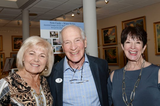 Ingeborg Lee, left, Elliott Zide and Janet Wright at the Backus Museum for the Highwaymen Celebration Weekend Feb. 15-17.