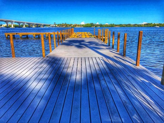 The newly repaired Live Like Cole Dock is located just across the lagoon from the Cole Coppola Memorial Fishing Pier.