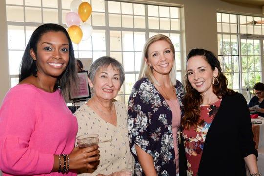 Karelle Jones, left, Janina Fernandez, Trish Chibas and Mariel Zen celebrate 4KIDS Treasure Coast's inaugural Galentine's Day Brunch in Port St. Lucie.