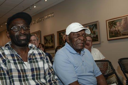 Roy McLendon Jr., left, and Original Highwayman Roy McLendon at the Backus Museum for the Highwaymen Celebration Weekend Feb.15-17.