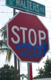 Port St. Lucie police are hunting for a suspected serial vandal with a preference for stop signs.