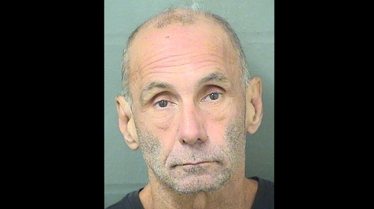 Ronnie Montsdeoca, 59, of Jupiter pleaded guilty in federal court to robbing banks in Martin and Palm Beach counties. He is pictured here in a mugshot from a prior arrest on an unrelated charge.