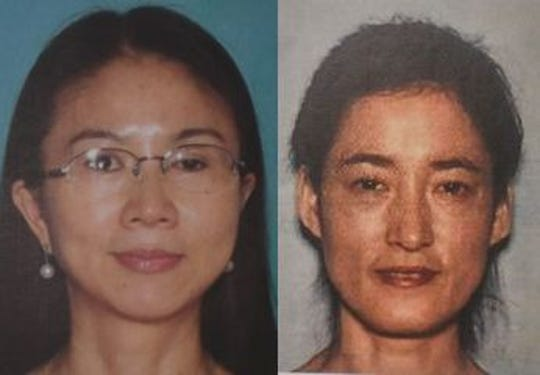 Ruimei Li (left) and Lixia Zhu were charged in connection with human trafficking.