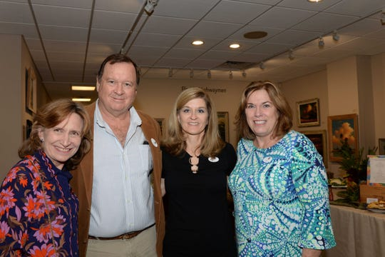 Misty and Michael Minton, left, Susan Klein and Cynthia Putnam at the Backus Museum for the Highwaymen Celebration Weekend Feb. 15-17.