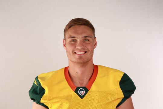 Former UTEP football deep snapper Nick Dooley now plays for the AAF league Arizona Hotshots.