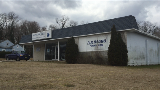 The former A.R. Sauro Plumbing & Heating building on North Delsea Drive near Oak Road will become a medical marijuana dispensary owned by Columbia Care.