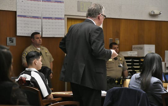 Oscar Robles, a former Woodlake cop, was in court on Wednesday, February 20, 2019.