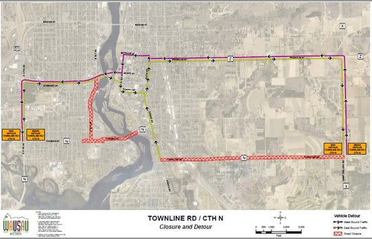 The planned detour for the Townline Road Construction scheduled for this summer