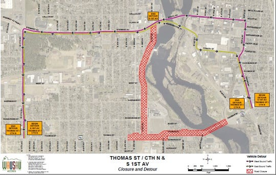The detours planned to avoid the Thomas Street and First Avenue reconstruction projects this summer and fall.