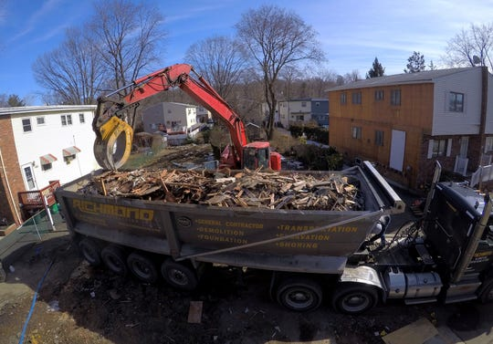 Demolition of a house in the Squires Gate neighborhood of Suffern Feb. 19, 2019.