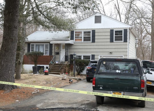 Ramapo police and county officials investigate the scene of a homicide at 4 Northbrook Road in Hillcrest on Wednesday, Feb. 20, 2019. Jose Alejandro Madrid was accused of fatally stabbing 40-year-old Jairo Danilo Sandoval del Cid in the chest and back in the home.
