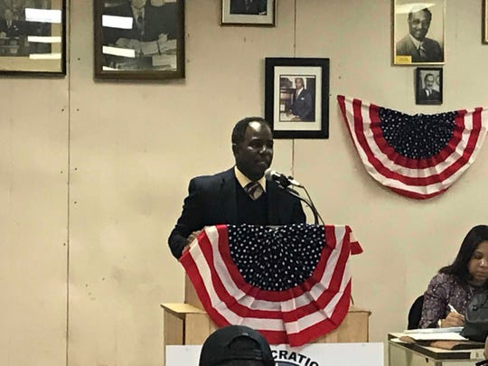 Mount Vernon City Council President Andre Wallace finished second in the voting by Democratic district leaders for the party's endorsement for mayor on Feb. 19, 2019.