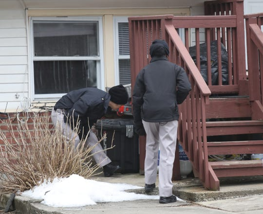 Cadets from Rockland County Police Academy support the search for evidence after a homicide at 4 Northbrook Rd. in Hillcrest on Wednesday, February 20, 2019.