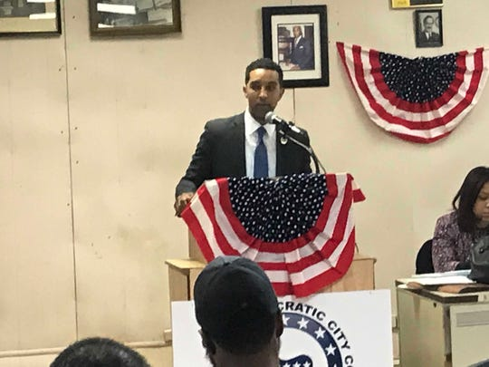 Mount Vernon Mayor Richard Thomas seeking the endorsement of Democratic district leaders in his bid for his second term at the party convention Feb. 19, 2019