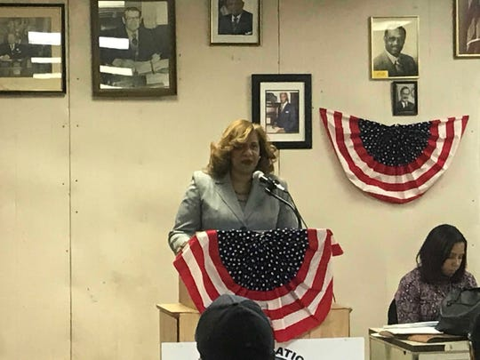 Shawyn Patterson Howard, former Mount Vernon planning commissioner, seeking the Democratic nomination for mayor at the party convention on Feb. 19, 2019