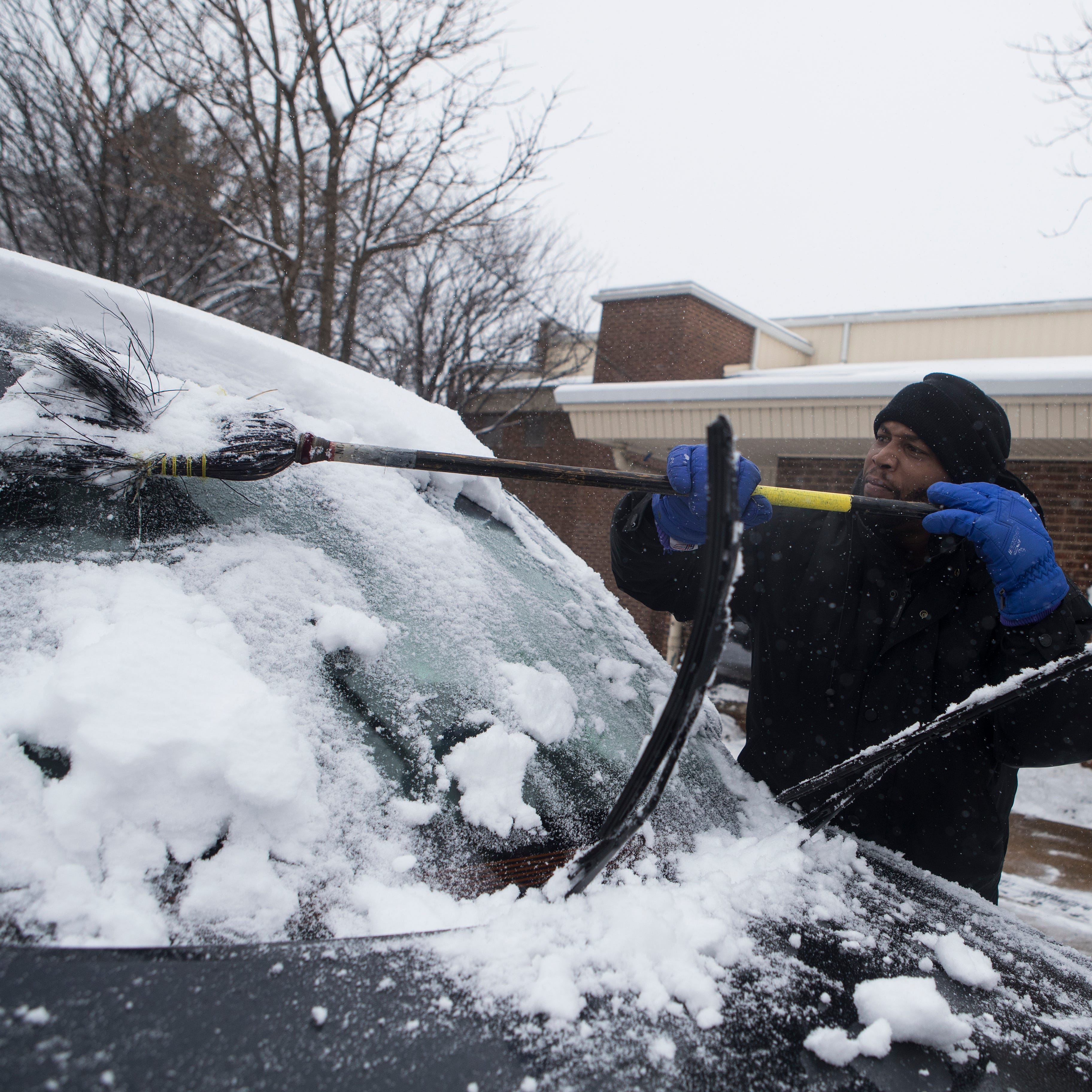 Northern Delaware hit the hardest by snow, with 3.4 inches in Hockessin so far