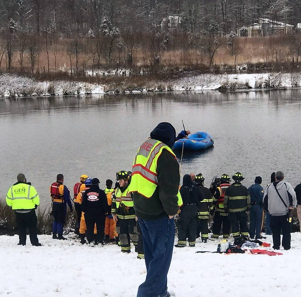 Woman in critical condition after pulled from car submerged in water near Townsend