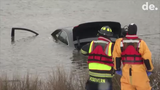 Woman pulled from car in pond near Townsend