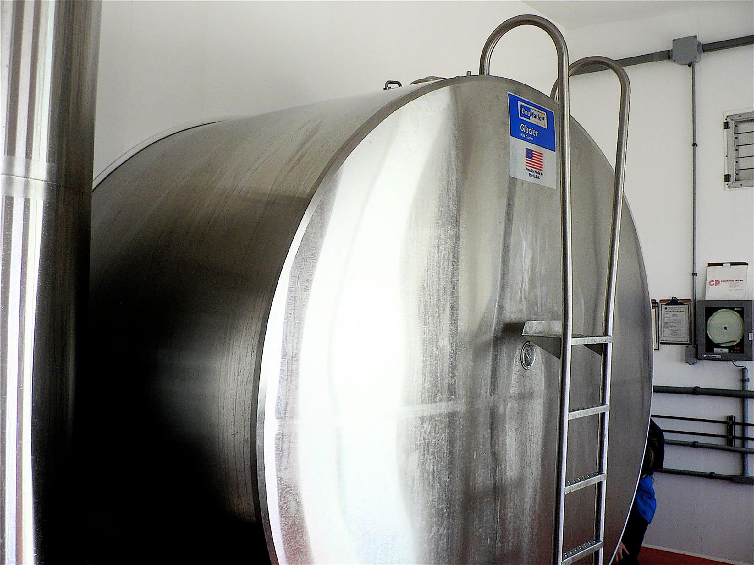 The new 7,000 gallon bulk tank.